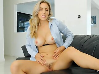 Ryan is a gorgeous blonde lady with big boobs, who is not shy to get completely naked blonde big tits