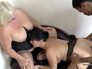 Lacey Starr and Devon Breeze in a threesome big cock bbw