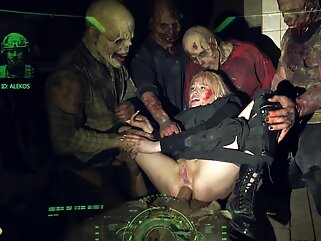 HORRORPORN Zombie Anal Fuck blowjob anal