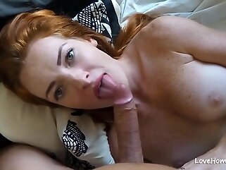 This brunette babe loves to suck cock big tits anal