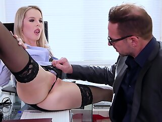 Rose Delight is a slutty, blonde office lady, who likes to get fucked even at work cumshot blonde