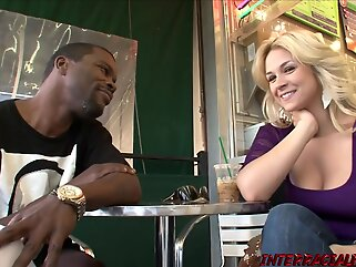 Sarah Vandella has hooked up with a black dude, just to feel that cock inside her blonde big tits