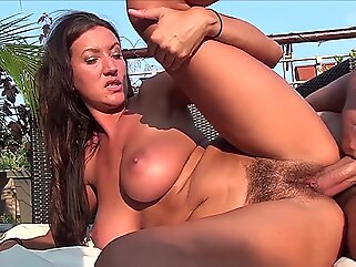 TuttiFrutti - Hot hairy Christina Nurse Outdoor brunette big tits