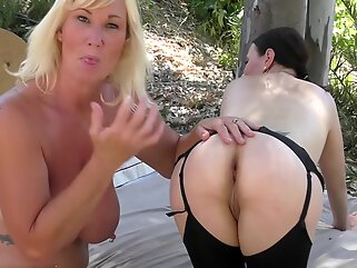 Annabelle More and Melody Charm lesbian love blonde big tits