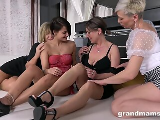 randMams – Horny Grandmams Loves Shy Teen blonde big tits